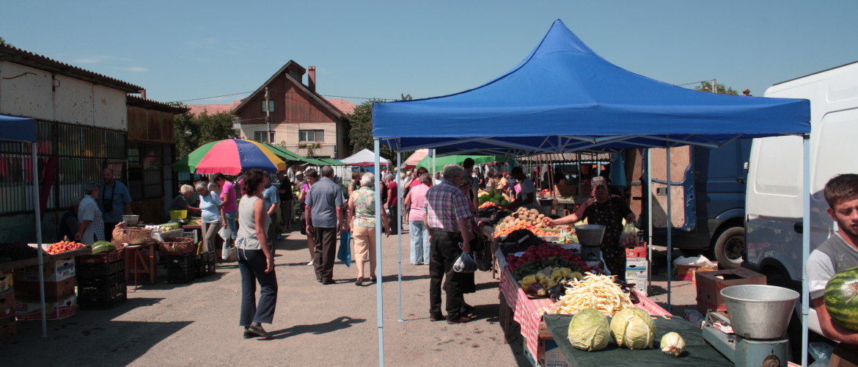 De plaatselijke markt
